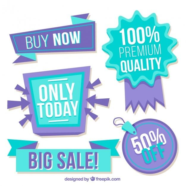 collection_of_blue_and_purple_discount_stickers