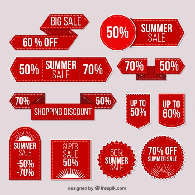 collection_of_red_stickers_summer_sale