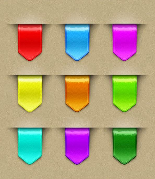 free_colorful_web_ribbons_template