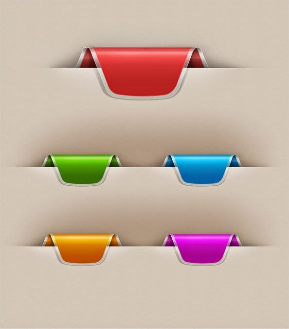 free_colorful_web_ribbons_set_template