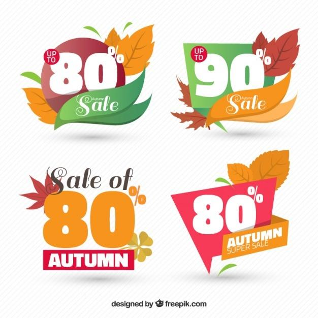 discount_stickers_with_autumn_leaves
