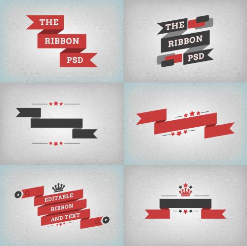 free_flat_ribbon_banner