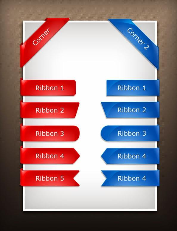 free_glossy_ribbons_template