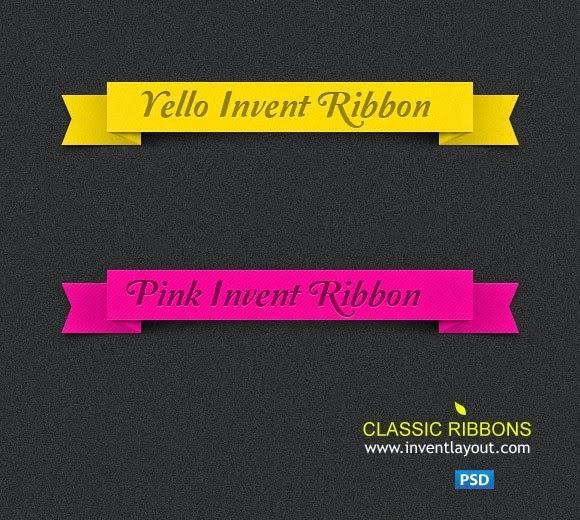 free_classic_ribbons_psd