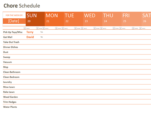 70 Free Schedule Planner Templates Word Excel PowerPoint – Task Schedule Template