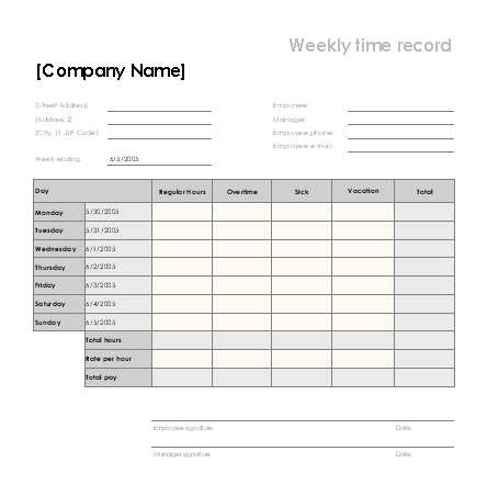 70 free schedule planner templates word excel for Overtime log template