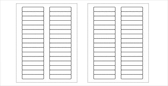 many_blank_free_label_template