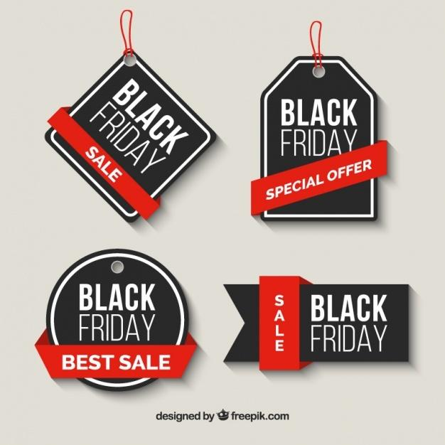 10pack of black friday sale labels with red ribbons pack of black friday sale labels with red ribbons