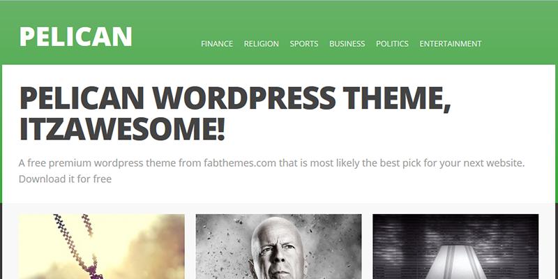pelican_wordpress_theme