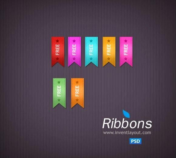 free_ribbon_psd_file