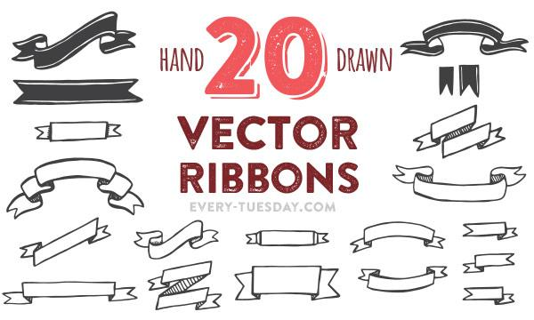 free_20_hand_drawn_vector_ribbons_template