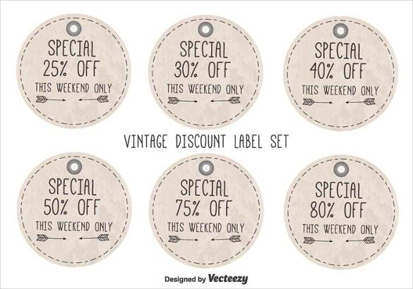 vintage_free_discount_label