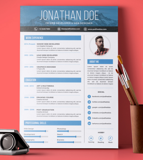 Creative Graphic Designer Resume