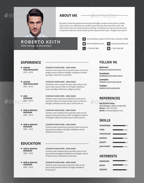 Clean resume and Cover Letter Template
