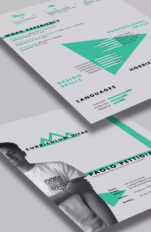 Self Promotion Free CV Template