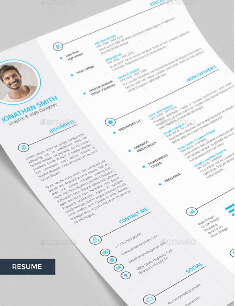 4 Pieces Professional Resume / CV