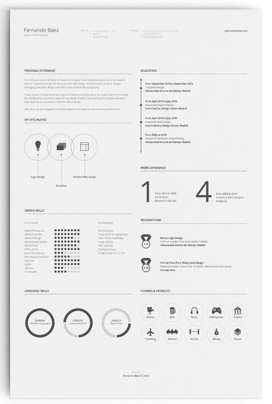 Free InfographicResume Template