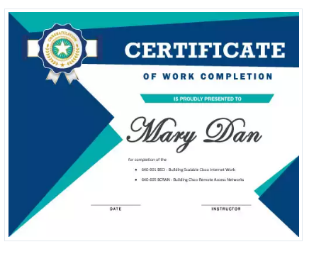 18 free certificate of completion templates utemplates 17work completion certificate template yadclub Images