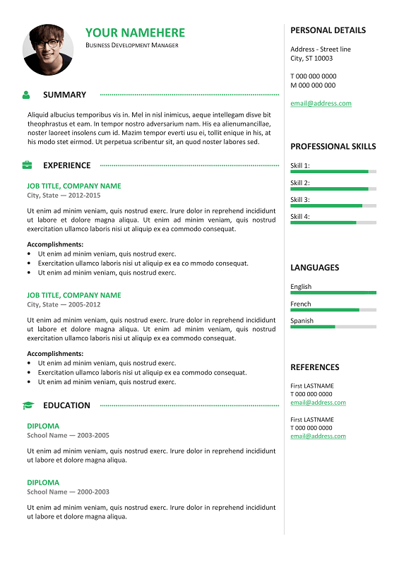 Gastown2. Gastown2 Is A 2 Column Free Professional Resume ...  Free Professional Resume