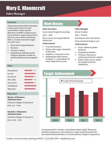 sales report .docx resume template