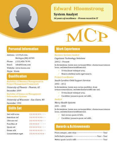 orange blossom .docx resume template