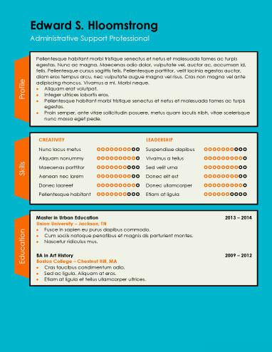 tabbed .docx resume template