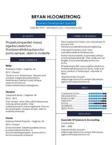 refined columns word resume