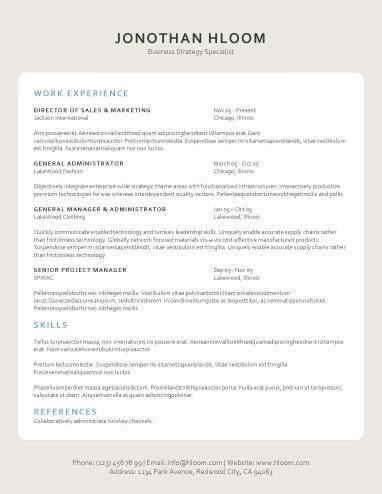 tablet word resume