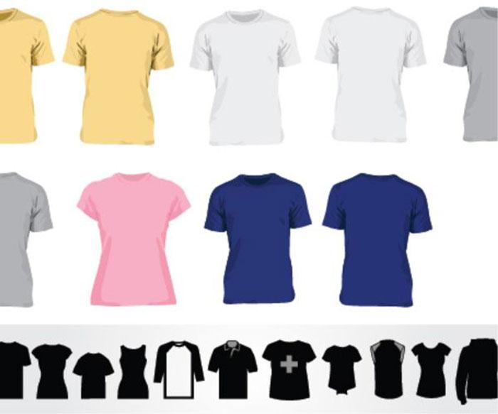 vector_t_shirt_templates_and_t_shirt_icons
