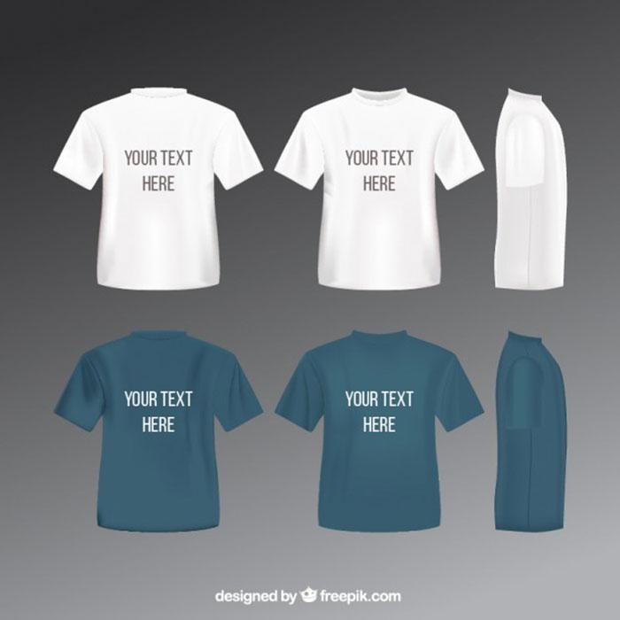 t_shirts_template_free_vector
