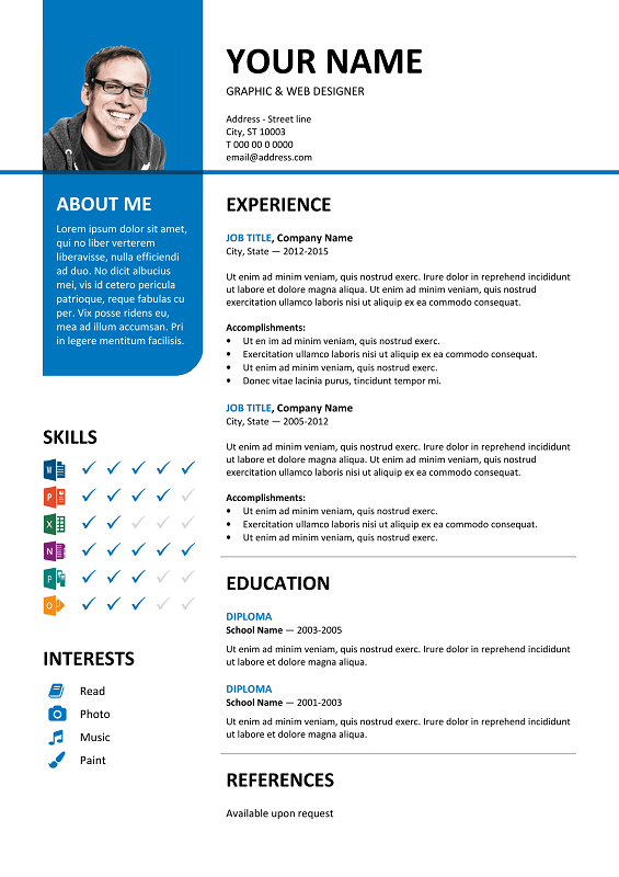 Bayview Is Another Clean 2 Column Free Resume Template
