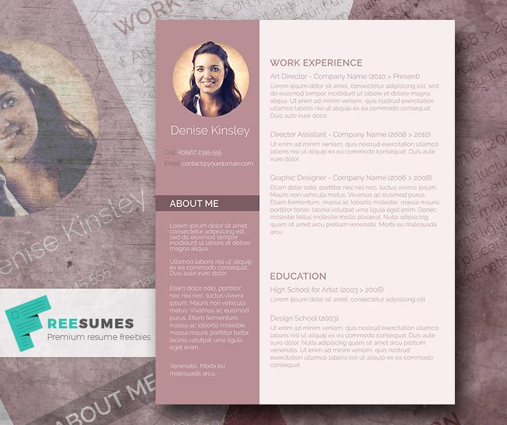 100  free resume templates   psd    word