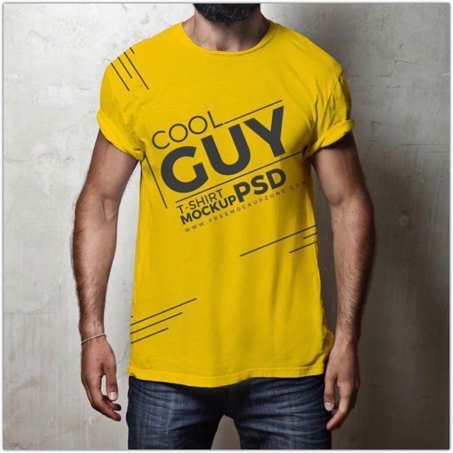 cool_guy_tshirt_psd_mockupfree