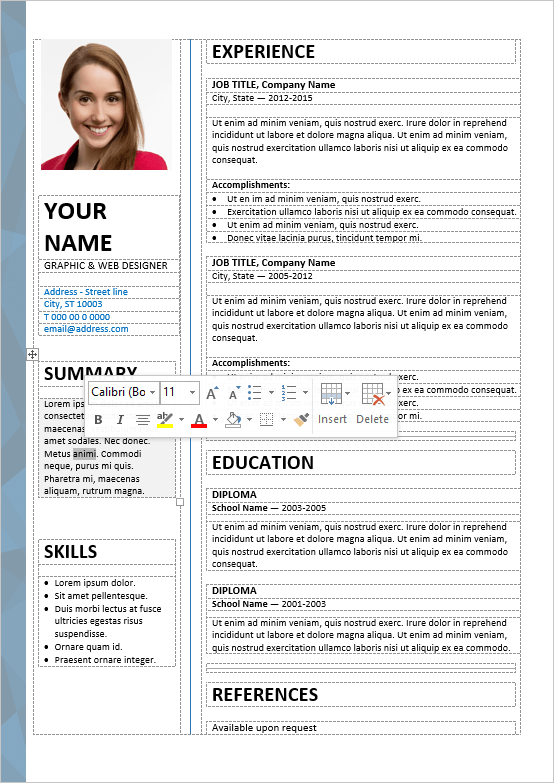 Captivating Dalston. Dalston Is A Stylish 2 Column Free Resume Template ...  Free Word Resume Templates