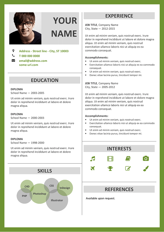Amazing Fitzroy. Fitzroy Is A 2 Column Free Curriculum Vitae Template ... Photo