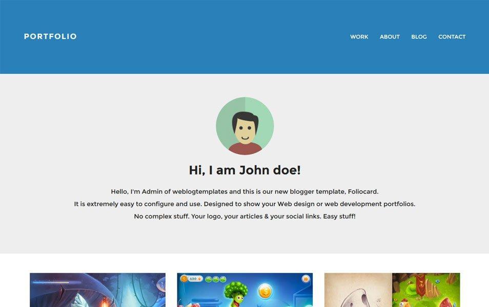 foliocard_responsive_portfolio_blogger_template