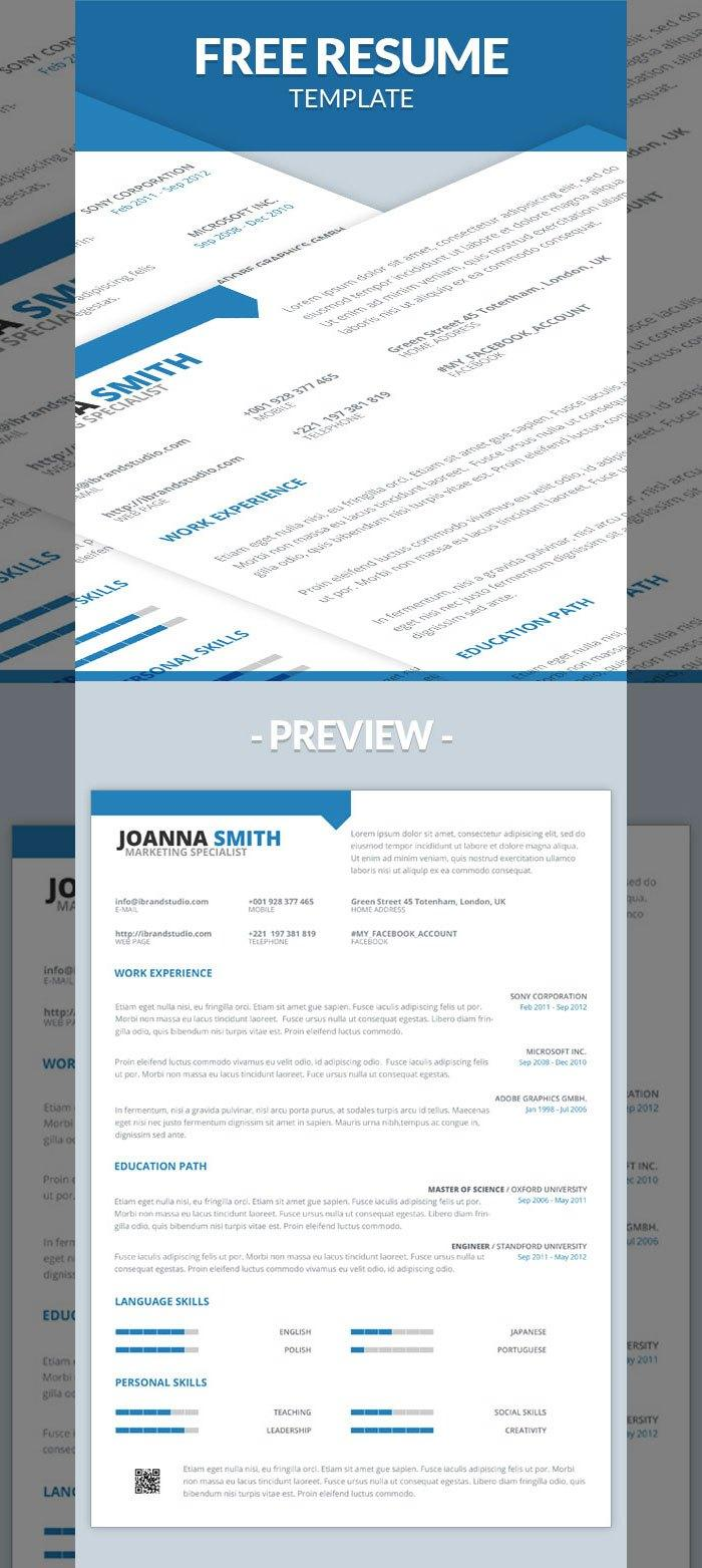 resume templates psd word utemplates 63minimal one page