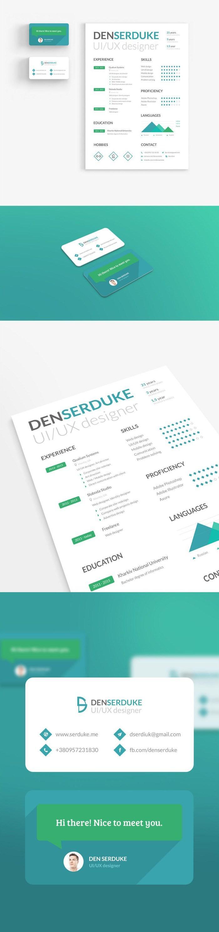 100+ Free Resume Templates [ PSD / Word ] | UTemplates