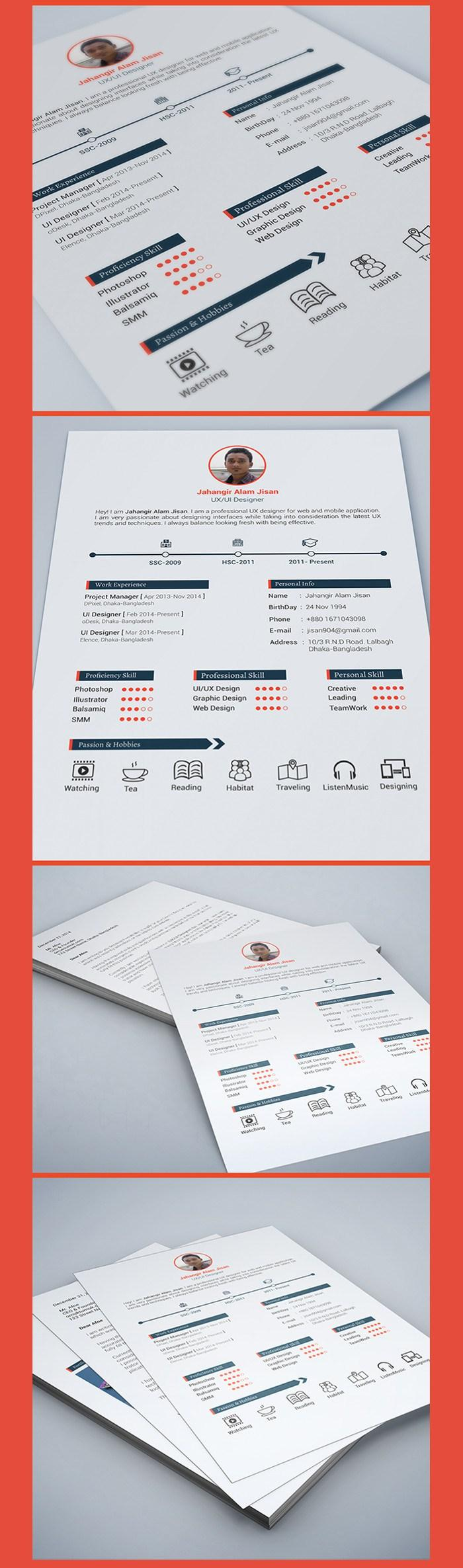 100  free resume templates   psd    word