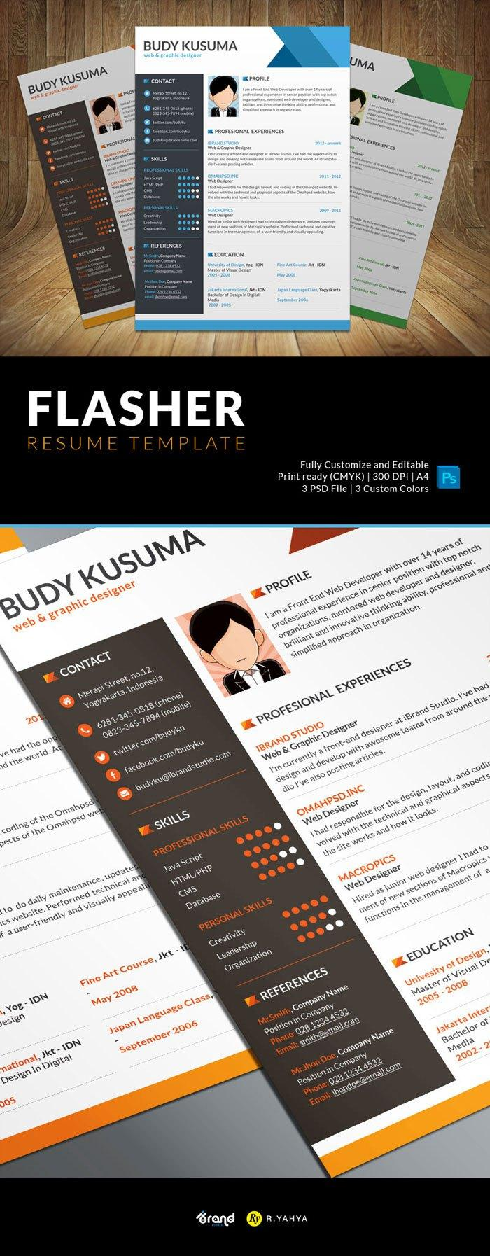 Free Resume Templates  Psd  Word   Utemplates