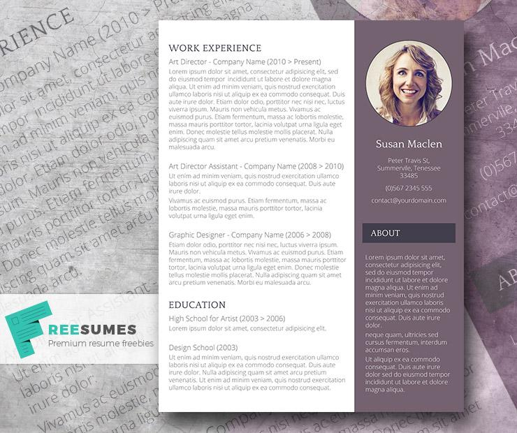 43free resume template the sophisticated candidate - Free Resume Word