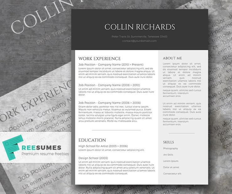 88Plain But Trendy The Free Modern Resume Template  Contemporary Resume Templates Free