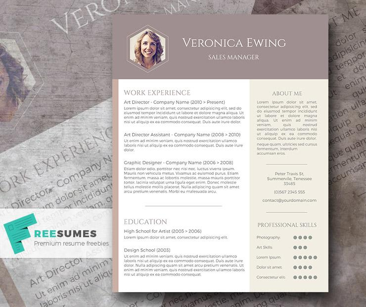 free professional cv template honeycomb photo