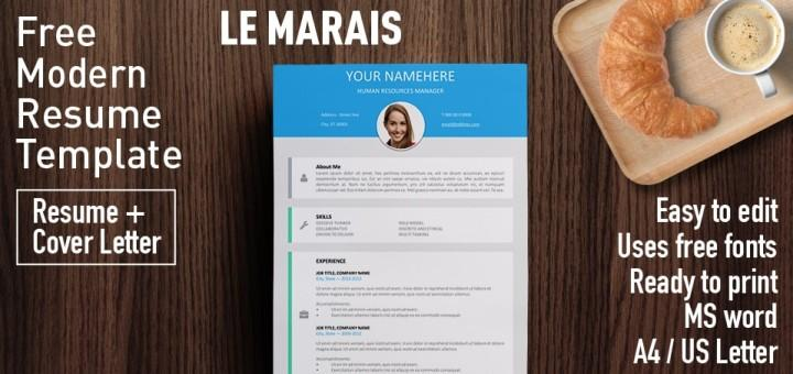 le marais is a free modern resume template encouraged by graphical user interface design ui frequently seen regarding the mobile apps or web sites for
