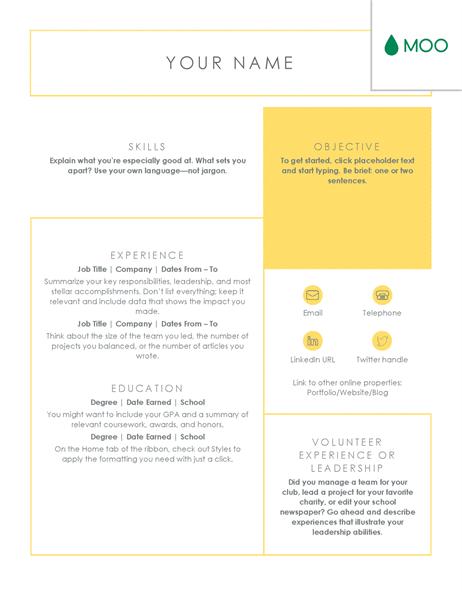 crisp and clean resume, design
