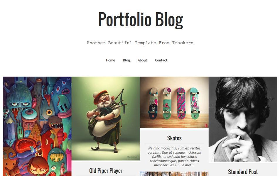 responsive_luna_folio_blogger_template