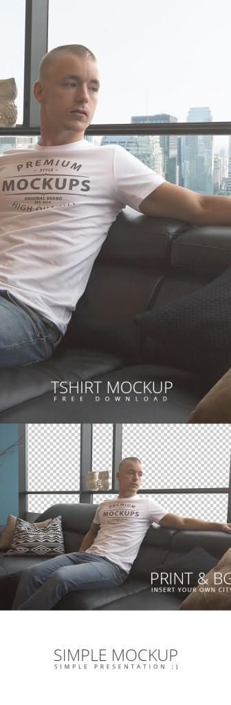 realistic_tshirt_psd_mockup with_model