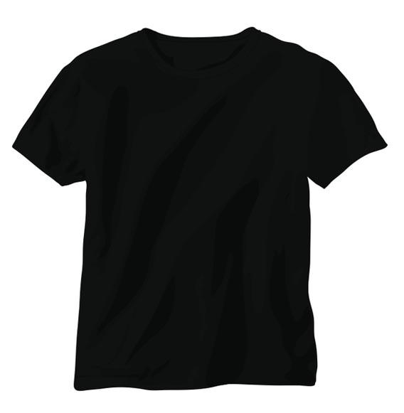 black_vector_tshirt_template