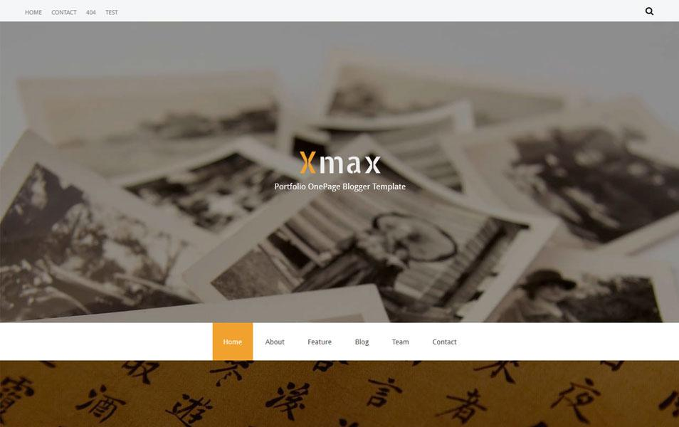 xmax_one_page_portfolio_blogger_template