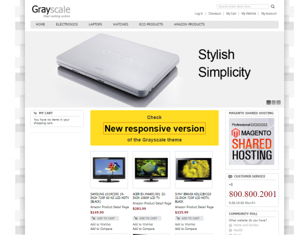 Grayscale Magento Theme
